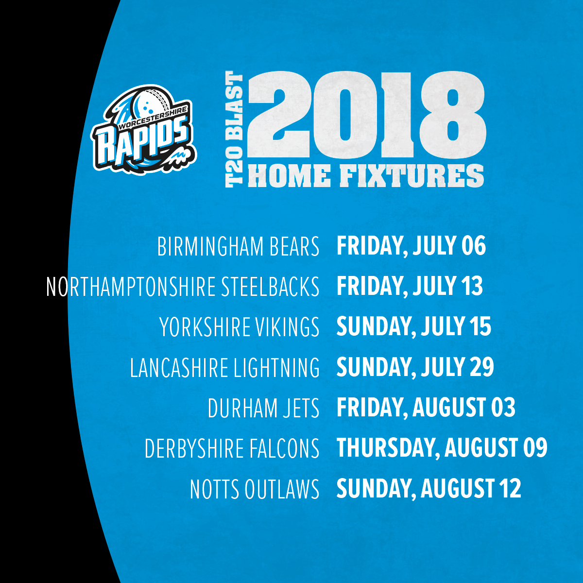 Worcestershire Rapids Launch T20 Home Campaign With